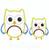 Boy Owl applique 2 sizes