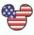 Mickey Mouse head flag