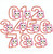 Girl Owl Birthday Number applique machine embroidery set numbers 0-9 for 4x4 hoop