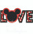 Mickey Mouse LOVE applique 4 sizes