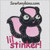 skunk baby Lil' Stinker little applique machine embroidery design