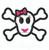 Skull applique Girl bow