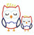 Boy sleepy Owl applique machine embroidery design Zzzz
