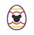 Mickey Easter Egg applique machine embroidery 3 sizes mouse silhouette