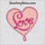 love in a heart applique machine embroidery word Valentine day