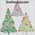elegant vine Christmas tree embroidery