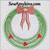 Christmas pine wreath embroidery design bow door hanging bough