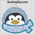 penguin applique embroidery