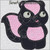 skunk baby applique machine embroidery design