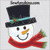 Snowman applique Frosty machine embroidery 3 sizes head face Christmas design holly hat scarf snow man