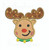 boy rudolph reindeer moose applique