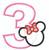 Minnie Mouse applique Number 3