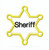 Sheriff Badge Star applique 6 points