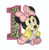Baby Minnie Mouse One First Birthday number applique machine embroidery design