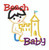 Smaller beach baby boy making a sand castle applique.