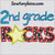 2nd second grade rocks school star applique embroidery