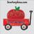 little red wagon applique apple teacher school machine embroidery design