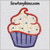 cupcake applique sprinkles jimmies embroidery design