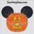 Mickey Mouse halloween pumpkin face applique embroidery design jack o lantern