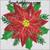 poinsettia Christmas flower machine embroidery design