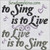 to sing is to live, to live is to sing heart music note embroidery, 4x4