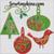 swirl holly embroidery designs bird tree vine ornament