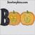 Boo pumpkin Halloween applique jack o lantern face embroidery design