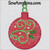 applique Christmas ornament round holly swirl machine embroidery bulb
