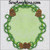 frame pine cone wreath bough applique embroidery picture oval