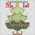 First Christmas Tree applique 1st machine embroidery design words baby boy