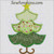 Christmas tree applique 3 layer star embroidery design girly