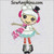 LaLaLoopsy Winter Snowflake applique doll body embroidery design Christmas