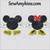 Mickey Minnie applique head hands feet, available separately