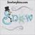 snow word snowman flake embroidery design