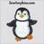 penguin boy applique embroidery design cute sweet