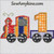 birthday train 1st first applique embroidery design 1 engine boy