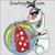 Olaf beach ball summer sun glasses applique embroidery design frozen snowman