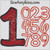 Disney font numbers applique machine embroidery