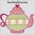 tea pot applique machine embroidery design heart scallops