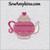 tea pot heart fill stitch small embroidery design