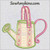 watering can applique machine embroidery design
