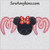 Mom Minnie Mouse applique machine embroidery