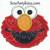Elmo face applique machine embroidery design red furry monster