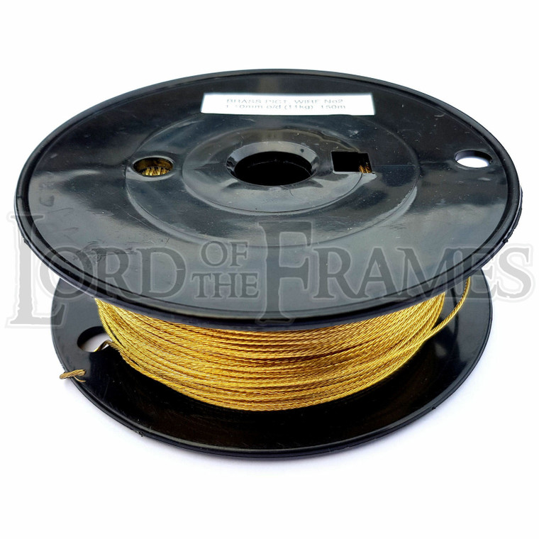 Brass Picture Hanging Wire No.2 1.10mm x 150m 11kg