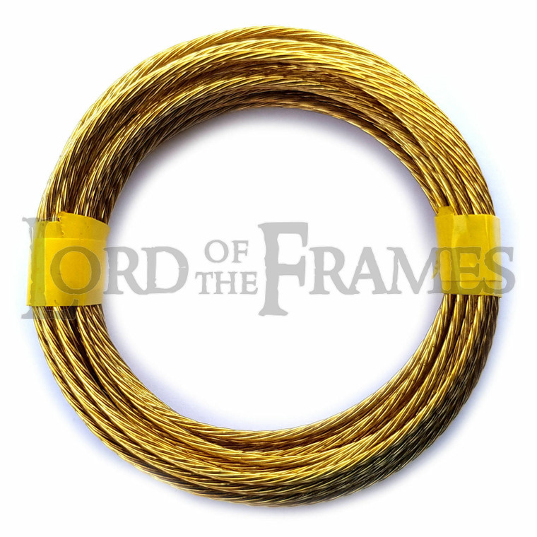 Brass Picture Hanging Wire No.3 1.35mm x 3m Coils