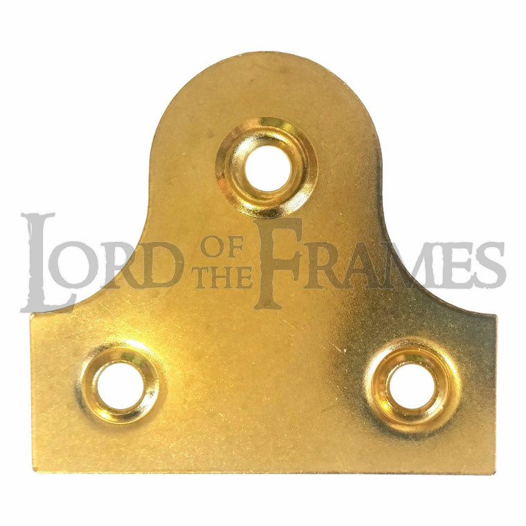 50mm Plain Mirror Picture Plates Brass Plated