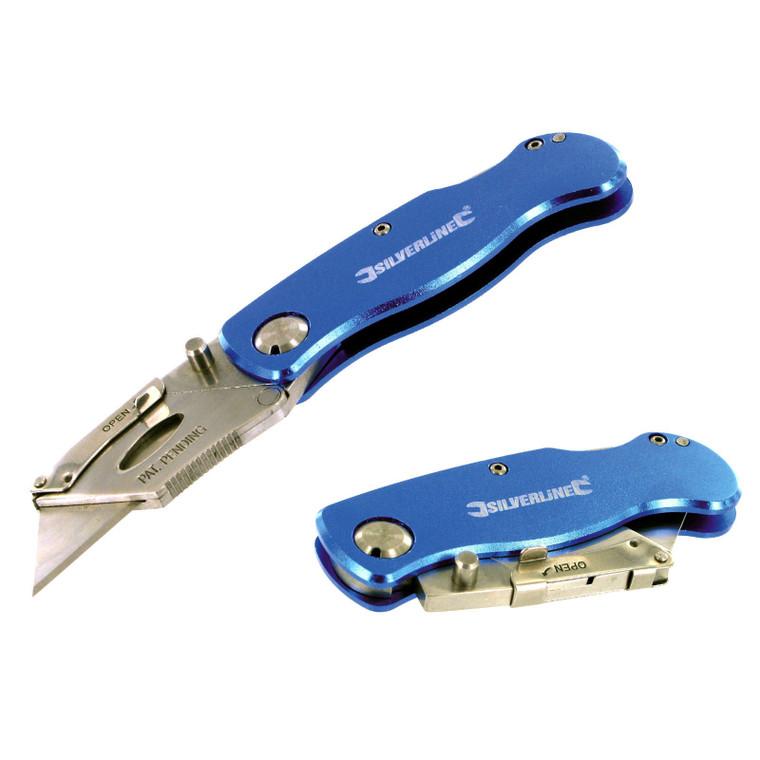 Folding Lock Knife & 10 Blades