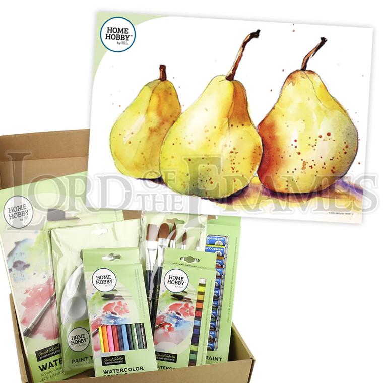 Watercolour Studio Kit • Trio of Pears by Kristin Ranney • Beginner