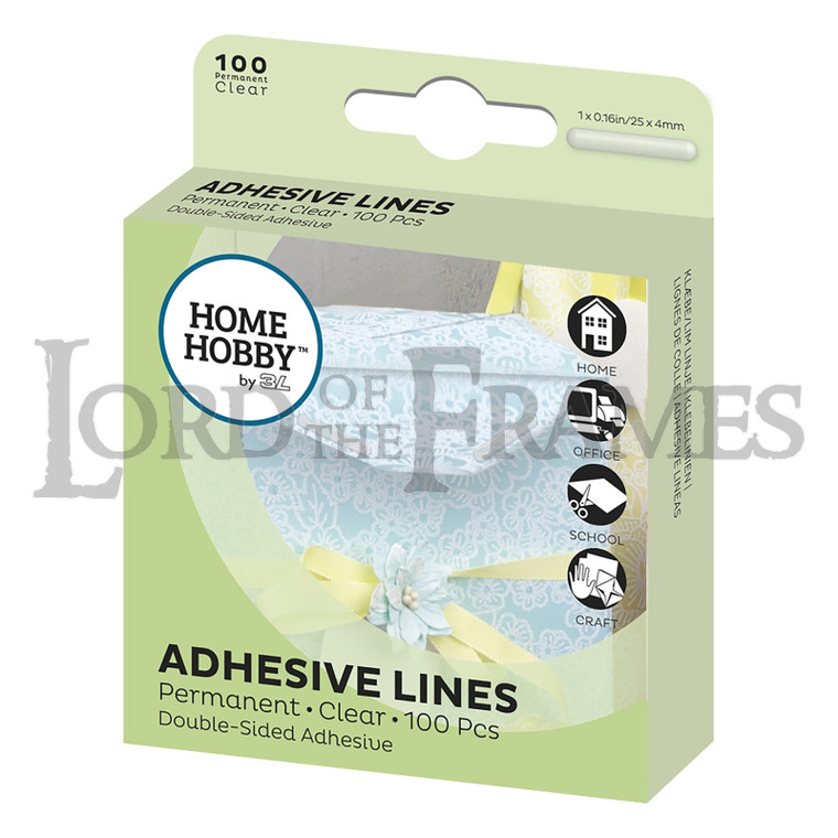 Adhesive Lines Clear 25x4mm 100 Pcs