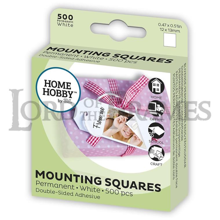 Mounting Squares White 12x13mm 500 pcs